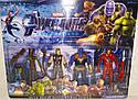 Набір Супергероїв Марвел — 5 героїв (Грут, Єнот, Тор, Танос, Залізна Людина), аксесуари, підсвітка, фото 2