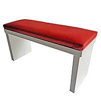 Подлокотник для маникюра - красный 16*32*11 см