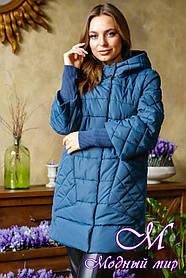 Жіноча весняна куртка великого розміру (р. 46-56) арт. Марго т. мор. хвиля