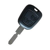 Заготівля ключа для Peugeot 407 107 205 206 207 307 406 2 кнопки лезо NE78, фото 1