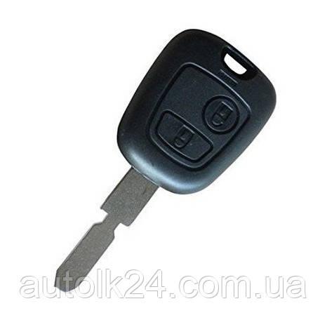 Заготівля ключа для Peugeot 407 107 205 206 207 307 406 2 кнопки лезо NE78