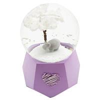 """Водяной шар """"Бегемот"""" снежный шар,  с подсветкой , цвет сиреневый,  размер 10-7-7 см"""