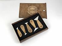 Набор ножей флажков  5 штук в пенале, для резьбы по дереву от производителя STRYI, фото 1