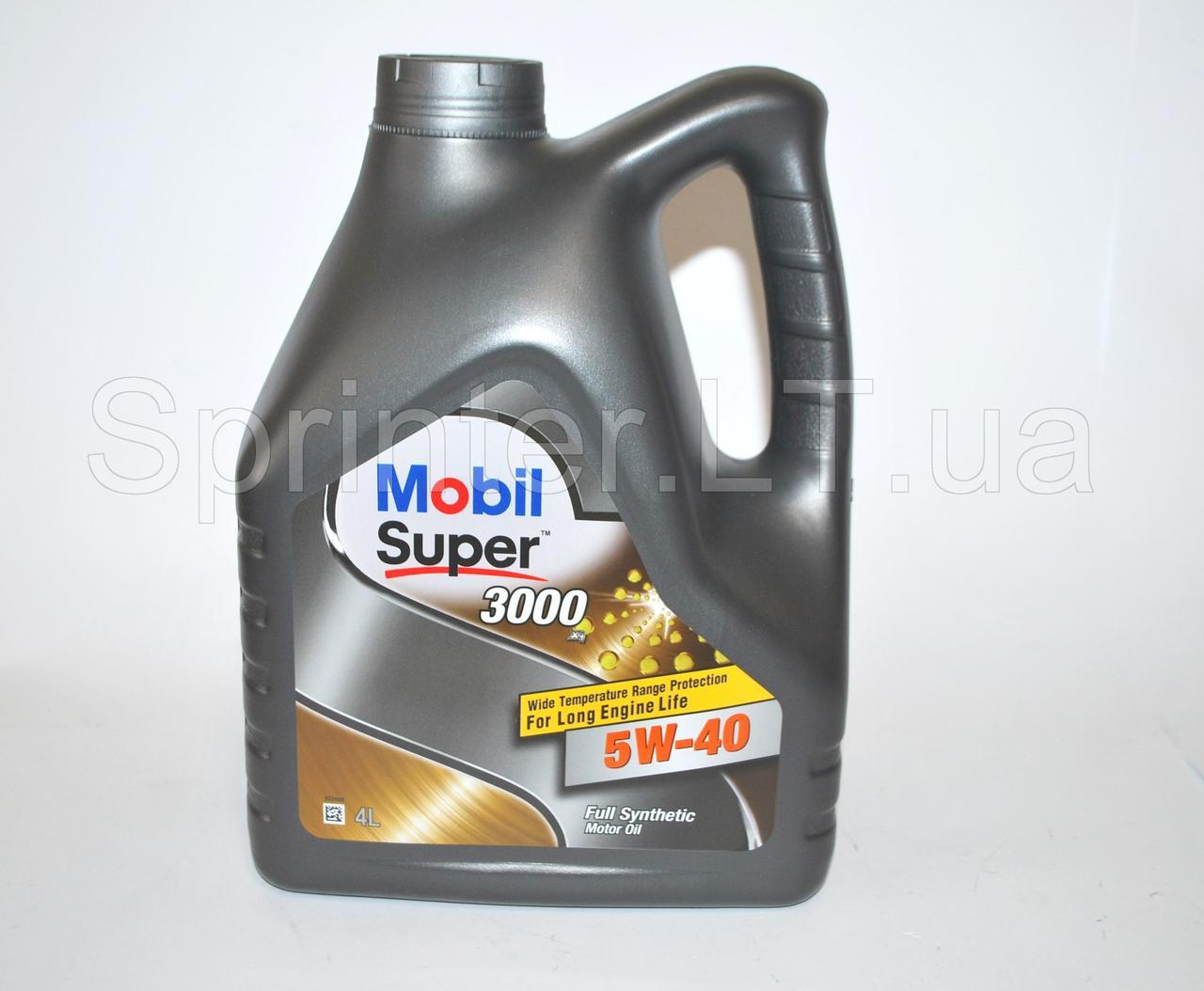 Масло Mobil Super 3000 x1 5W-40 4л