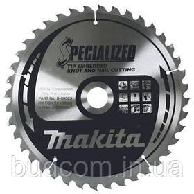 Пильный диск Makita по древесине с гвоздями SPECIALIZED 235x30 мм 48 зубьев (B-09519)
