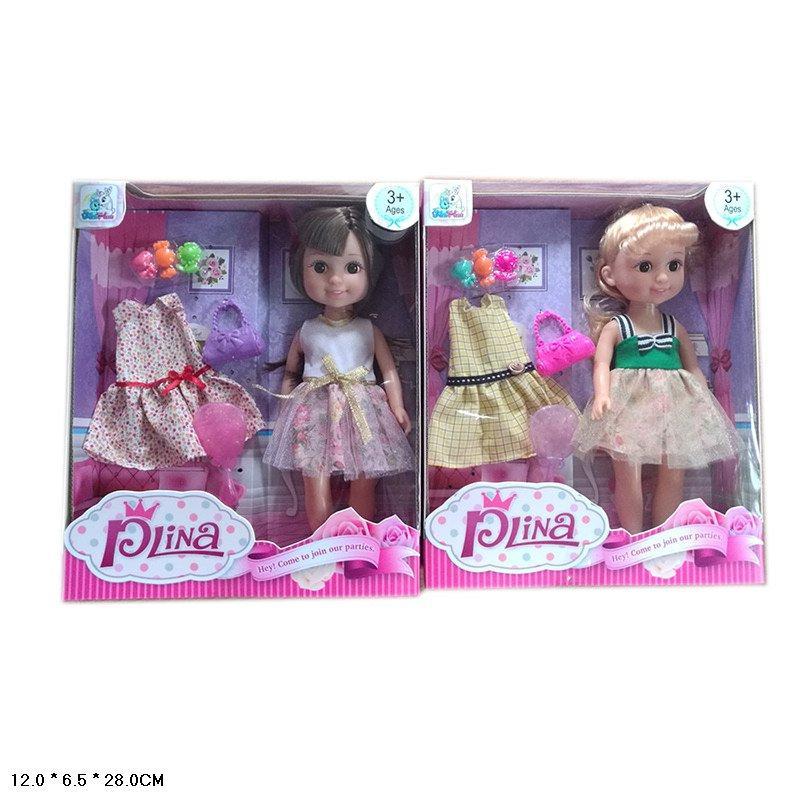Кукла 2 вида,платье, расческа, сумочка,аксес, в кор.12*6,5*28см /60-2/