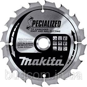 Пильный диск Makita по древесине с гвоздями 210 мм 18 зубьев (B-09363)