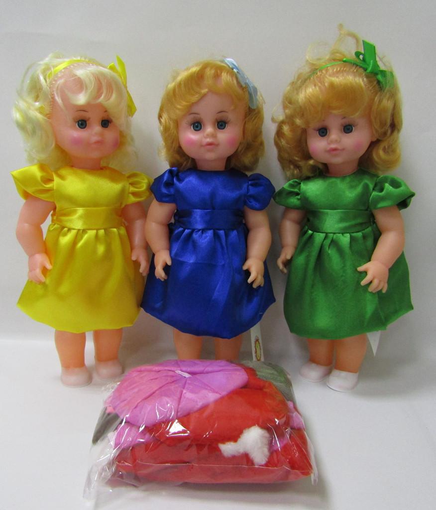 Кукла МИЛАНА с комплектом одежды осень-зима  45см