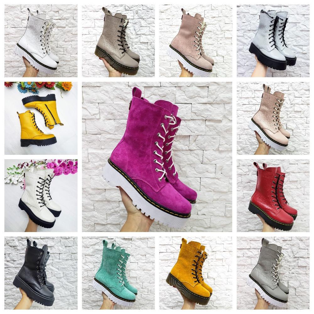 Женские высокие ботинки на шнуровке демисезонные WooDstock (новые цвета)