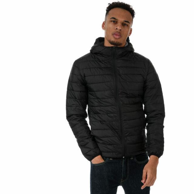 Демисезонная мужская куртка стеганая черная  Jack Jones Boom Twist Puffer