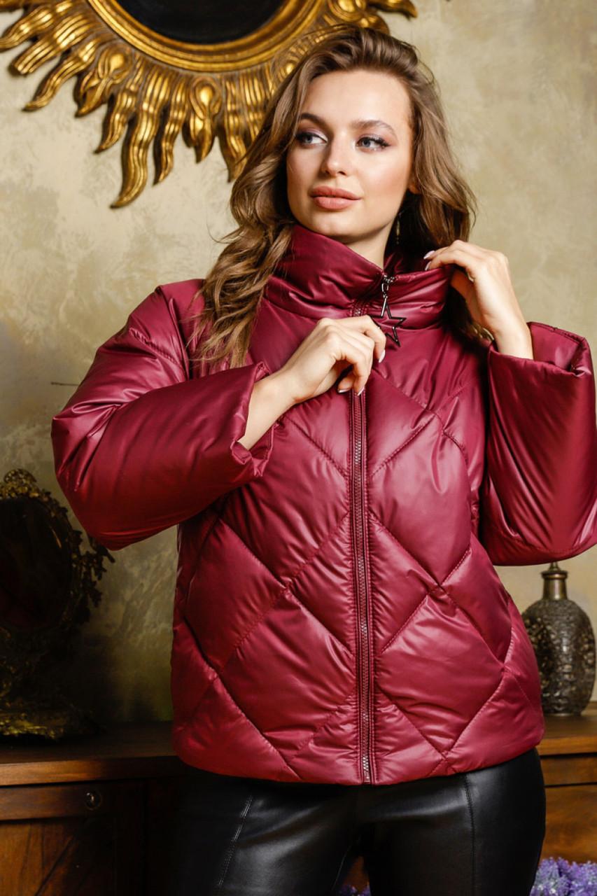 Молодежная демисезонная куртка (р. 42-50) арт. Рубина марсала
