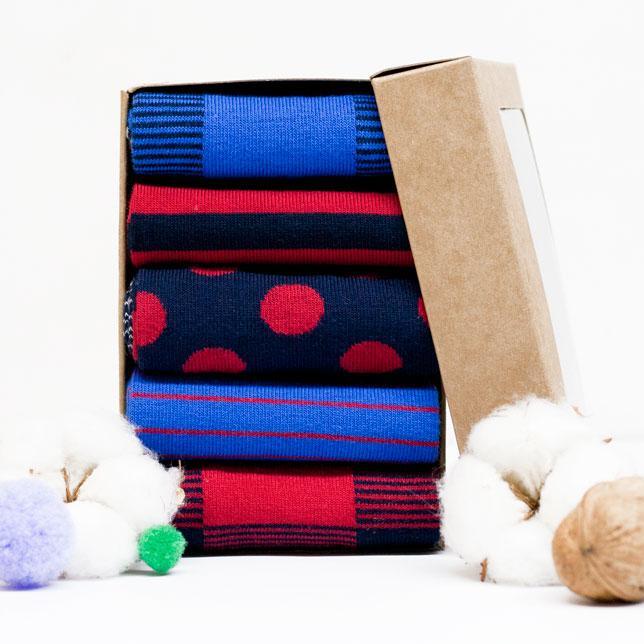 Набор носков из 5 пар Plaid Box (008)