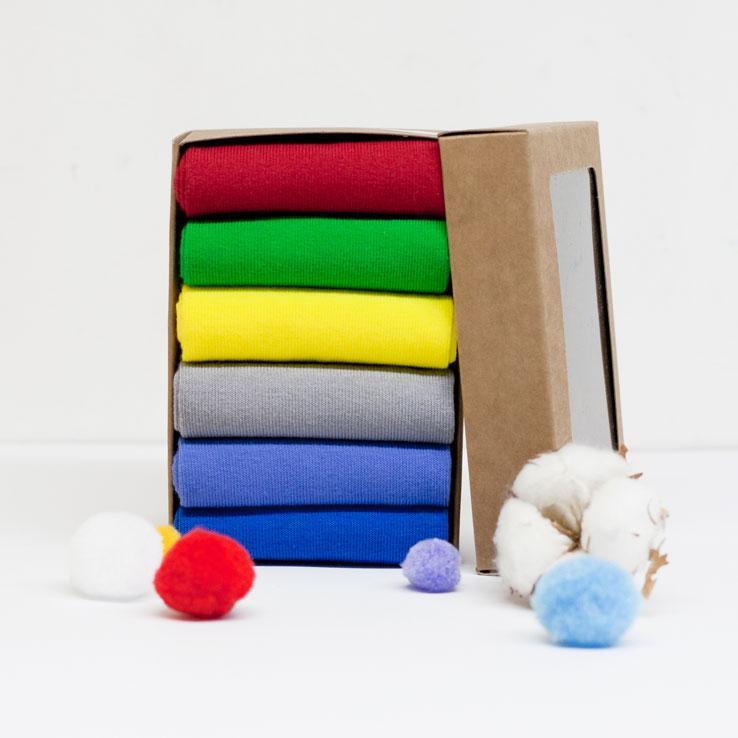 Набір шкарпеток з 6 пар без малюнка (022)