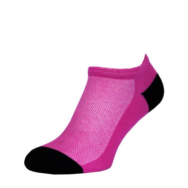 Носки Розово-Черные в сеточку MINI