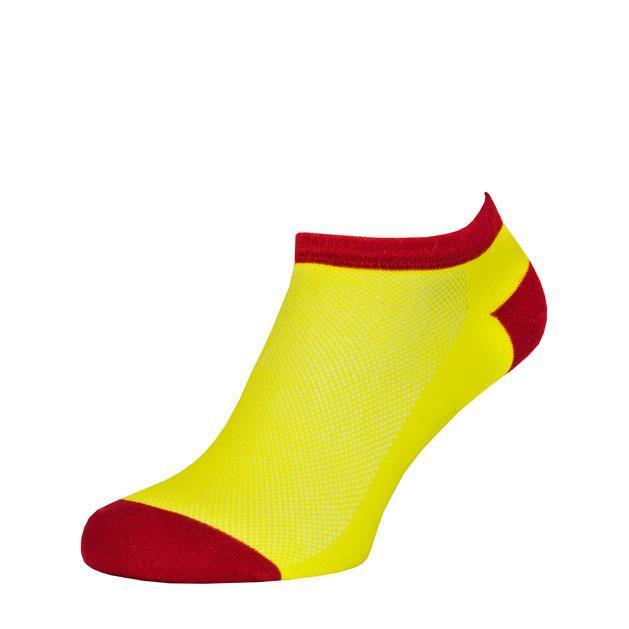 Носки Желто-Красные в сеточку MINI