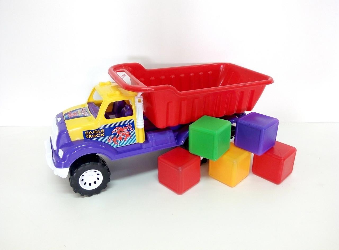 Машина Самосвал Орел Б с кубиками Kinderway (07-713-5к)
