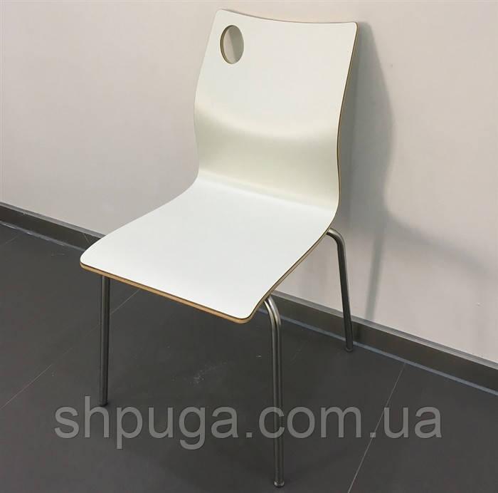 Штабелируемый стул Хорека-W, гнутая фанера, цвет белый