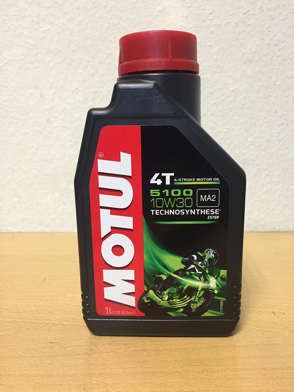 Масло MOTUL 5100 4T 10W-30 1л (104062)