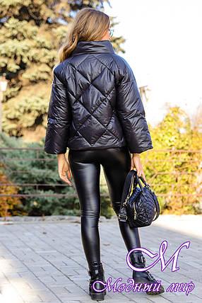 Стильна демісезонна куртка (р. 42-50) арт. Рубіна чорний, фото 2