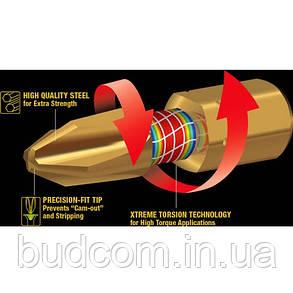 Торсионная бита PZ1 Impact GOLD Makita 2 шт (B-28444), фото 2