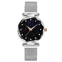 Женские наручные часы Starry Sky Watch на магнитной застёжке Silver