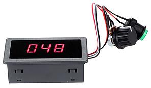 Контролер ШІМ. Управління швидкістю двигуна постійного струму з LED і регулюванням 6-30В 0-8А