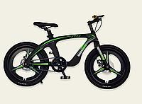 Детский спортивный двухколесный велосипед 20 дюймов M20300 рама из магниевого сплава черный