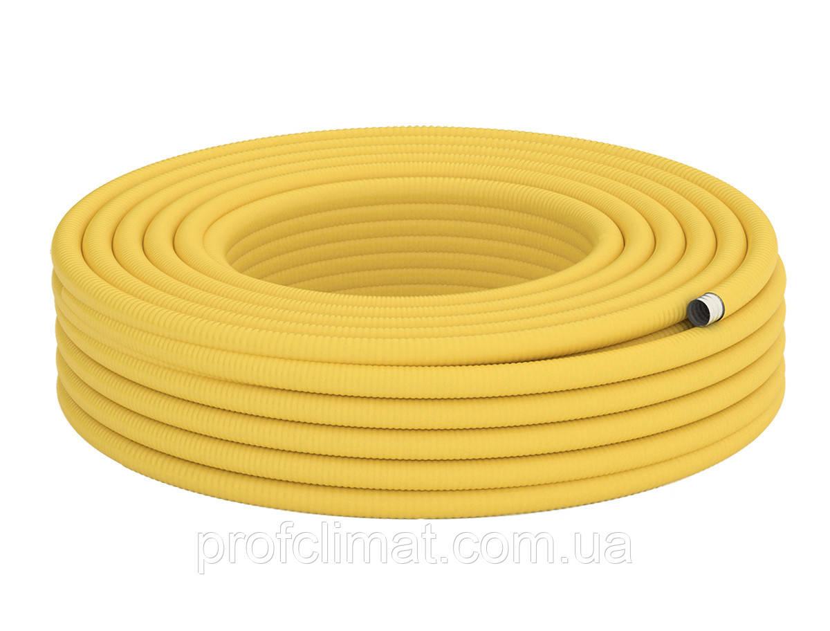 20 Труба гофрированная для газа из нержавеющей стали DISPIPE 20HFPY, отожженная в желтой оболочке