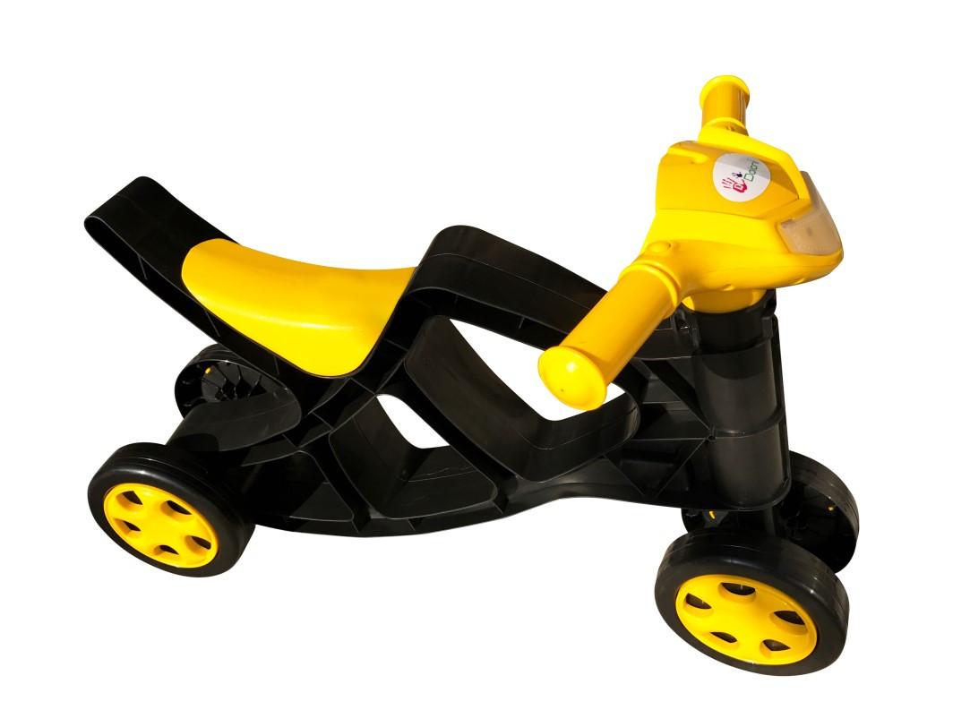 Беговел без звука черно-желтый Фламинго Doloni-toys (0136/01)