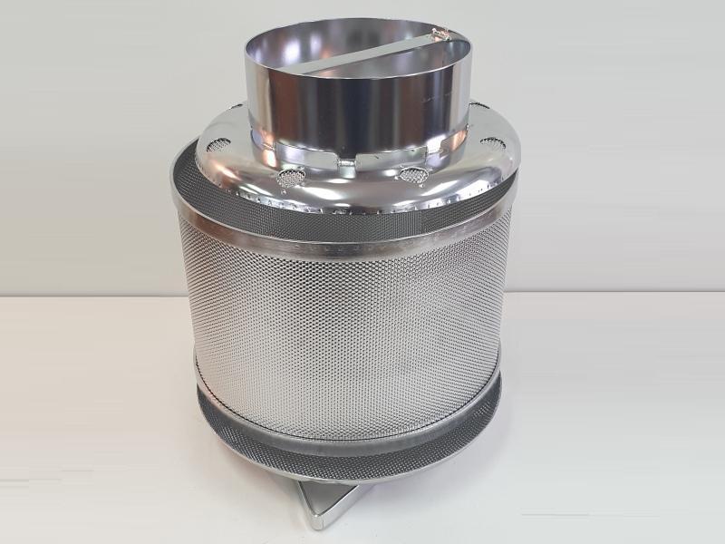 Перфорированая форма для сиру з нержавійки, цилиндричная 3-х елементну