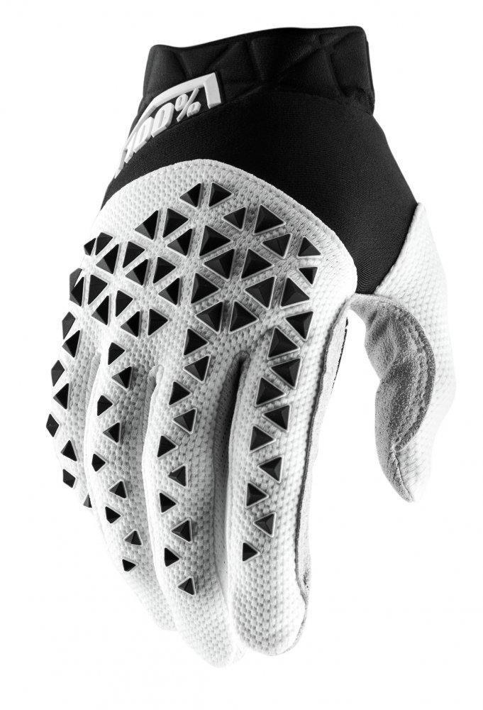 Мото перчатки Ride 100% AIRMATIC Glove [Black/White/Silver], L (10)