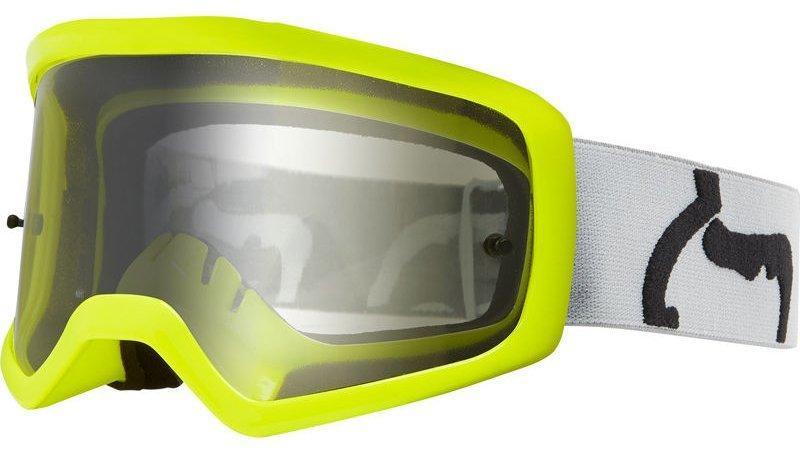 Детские мото очки FOX YTH MAIN II PC PRIX GOGGLE [GREY], Clear Lens