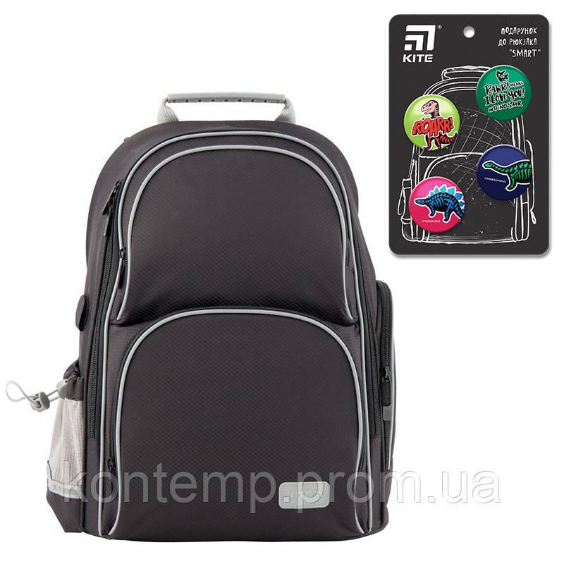 Рюкзак шкільний каркасний Kite Education K19-702M-4 Smart чорний