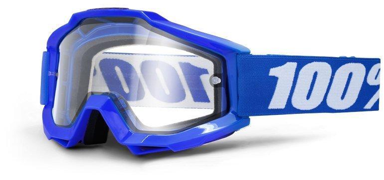 Мото очки 100% ACCURI OTG Goggle Reflex Blue - Clear Lens, OTG