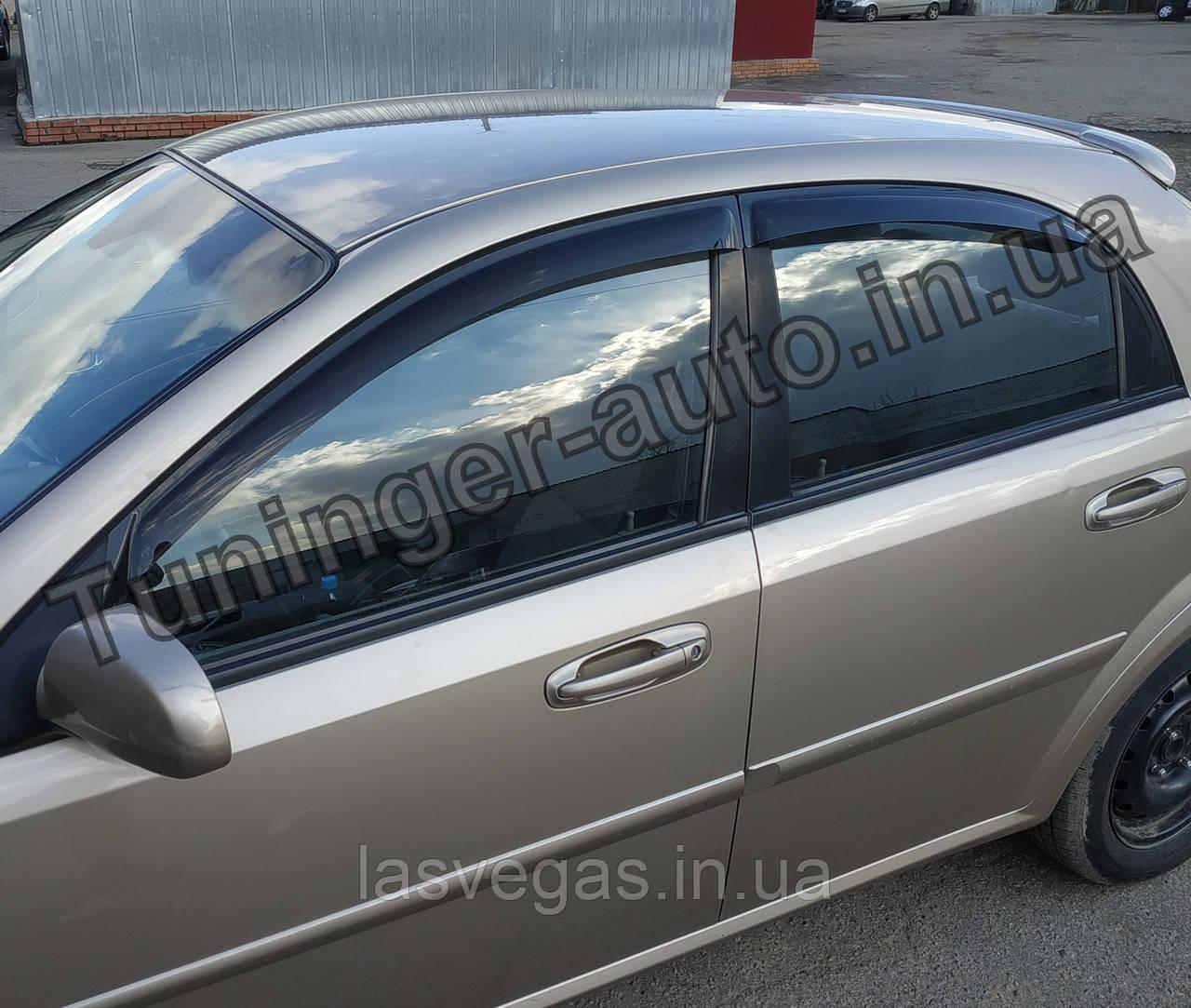 Вітровики, дефлектори вікон Chevrolet Lacetti Hatchback/Лачетті хетчбек 2004-2012(ANV)
