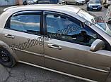 Вітровики, дефлектори вікон Chevrolet Lacetti Hatchback/Лачетті хетчбек 2004-2012(ANV), фото 4