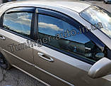 Вітровики, дефлектори вікон Chevrolet Lacetti Hatchback/Лачетті хетчбек 2004-2012(ANV), фото 5