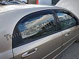Вітровики, дефлектори вікон Chevrolet Lacetti Hatchback/Лачетті хетчбек 2004-2012(ANV), фото 6