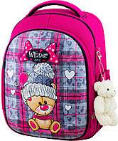 Рюкзак ортопедический школьный для девочки каркасный розовый Winner One 6013 для 1-4 класса 29*17*36 см, фото 1