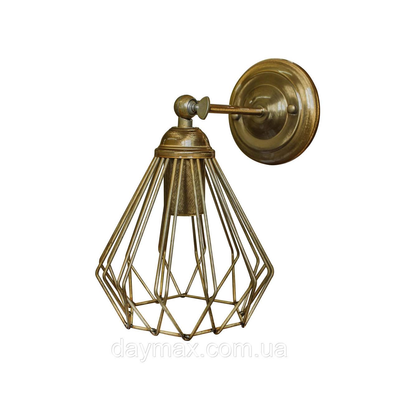 Бра в стиле лофт MSK Electric NL 05371-1 BN  бронза