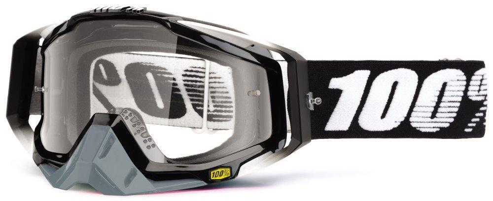 Мото очки 100% RACECRAFT Goggle Abyss Black - Clear Lens, Clear Lens