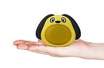 Колонка блютуз Bluetooth музыкальная игрушка собачка Желтая, фото 3