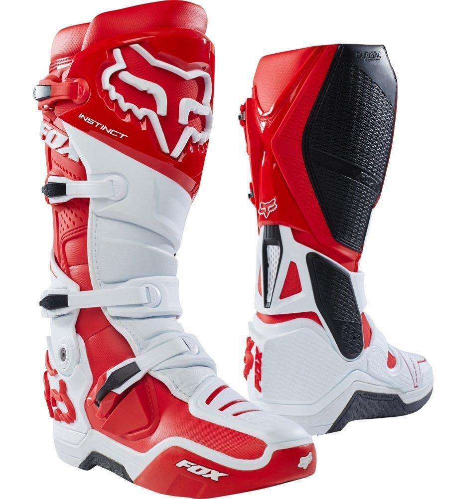 Мотоботы FOX Instinct Boot [WHITE RED], 12