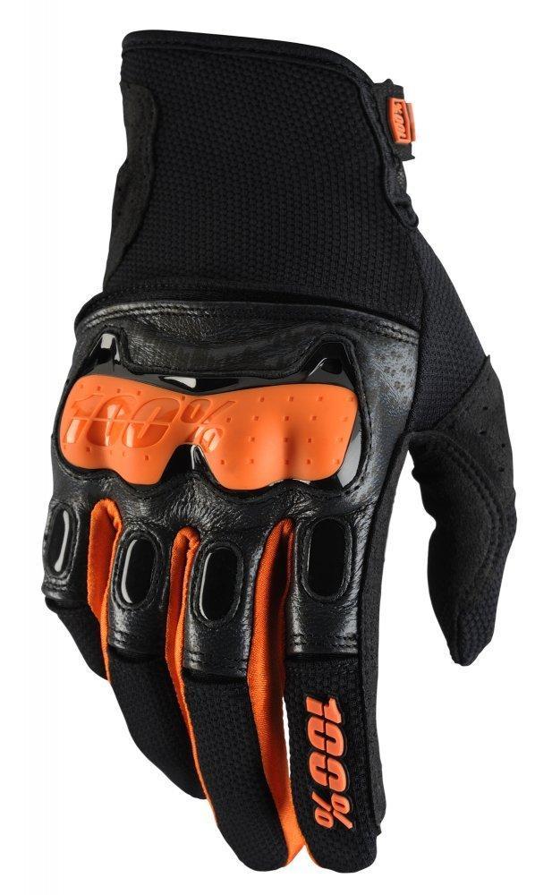 Мото перчатки Ride 100% Derestricted Glove [Black/Orange], XXL (12)