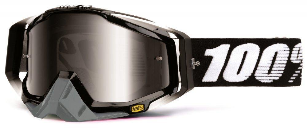 Мото очки 100% RACECRAFT Goggle Abyss Black - Mirror Silver Lens, Mirror Lens