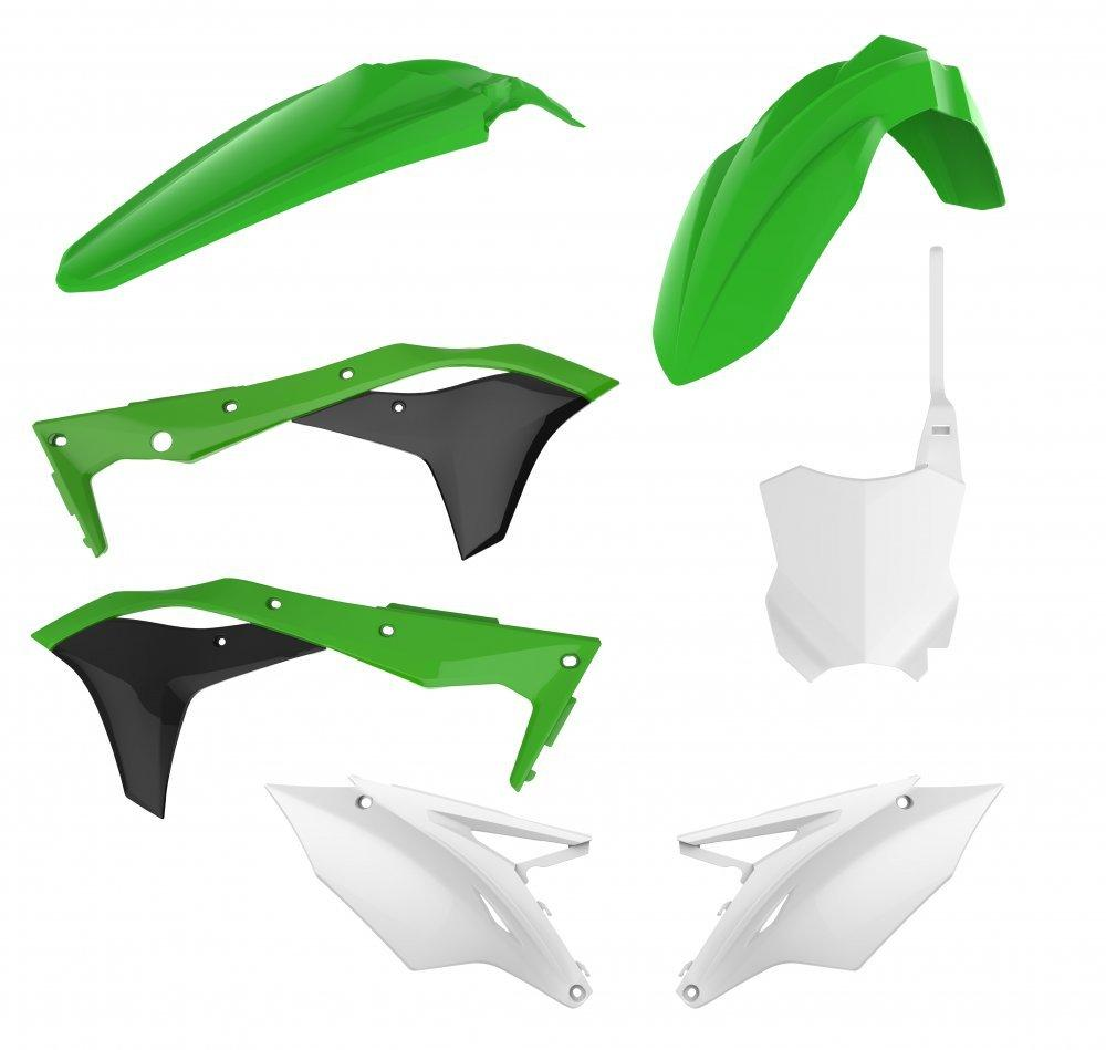 Пластик Polisport MX kit for Kawasaki [Green OEM]