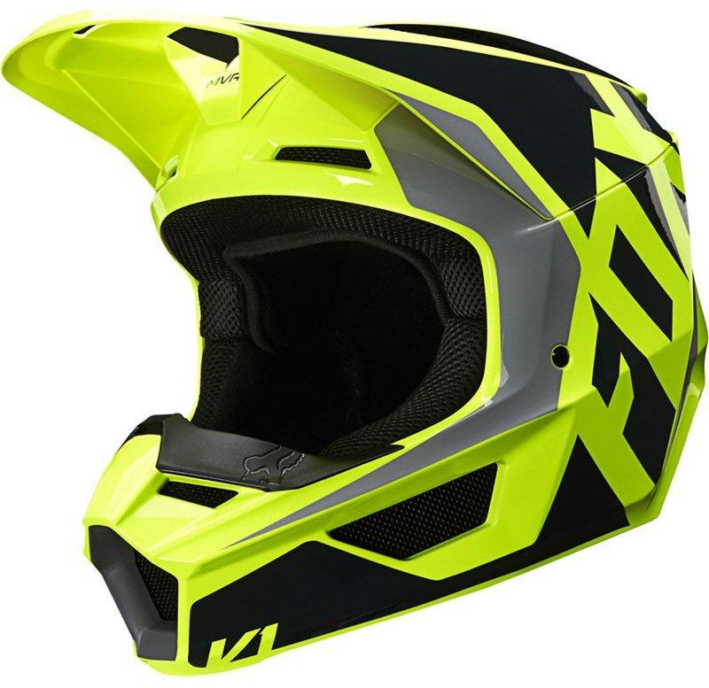 Мотошлем FOX V1 PRIX HELMET [BLACK YELLOW], XL