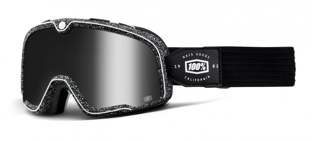 Мото очки 100% BARSTOW Goggle Noise - Silver Mirror Lens     , Mirror Lens