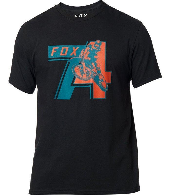 Футболка FOX HERITAGE 74 TEE [BLACK], M