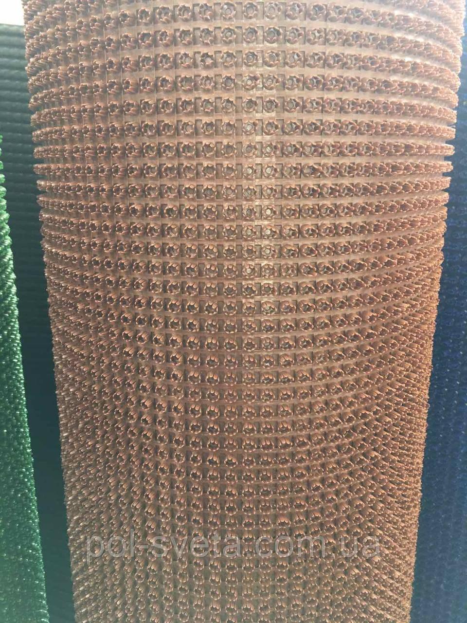 Щетинистый коврик  коричневый